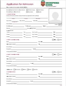 admission form download pdf