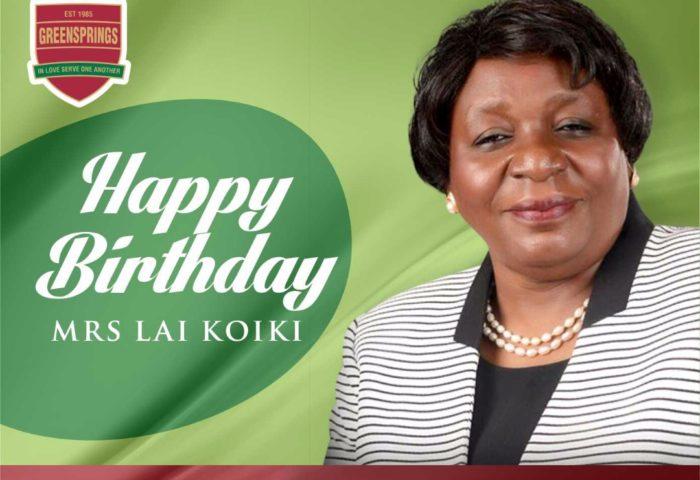 Greensprings celebrate Mrs Lai Koiki's birthday