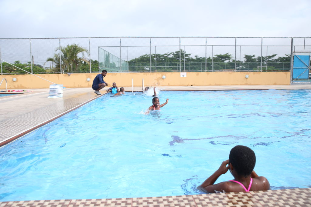 Greensprings Students swimming