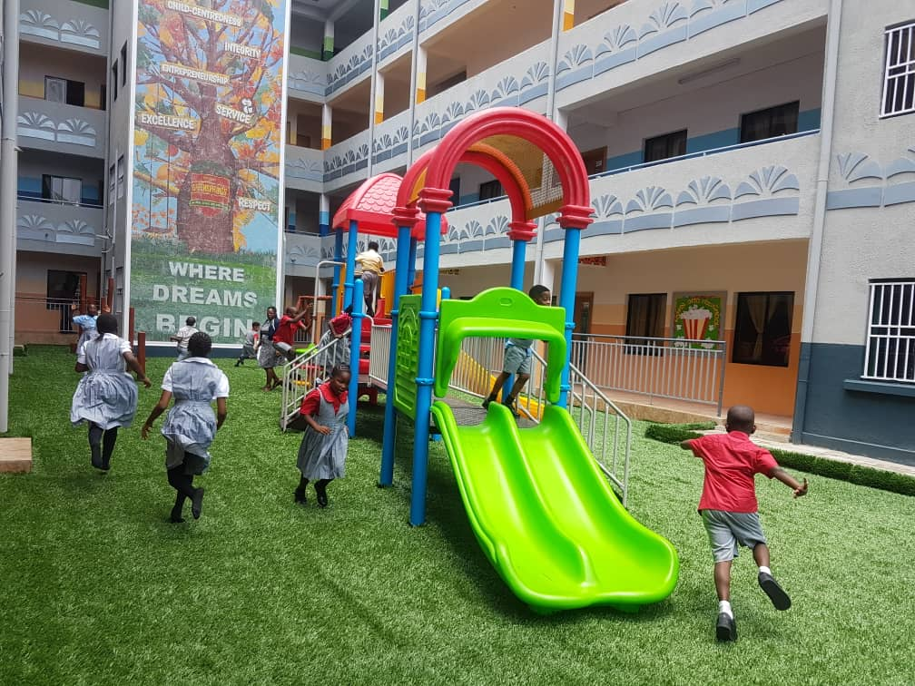 Students at Ikoyi Campus playing in the school premises