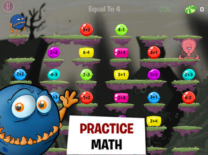 Practice math with monster math app