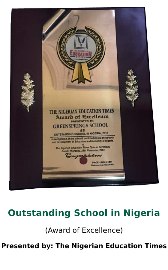 Outstanding School in Nigeria 2