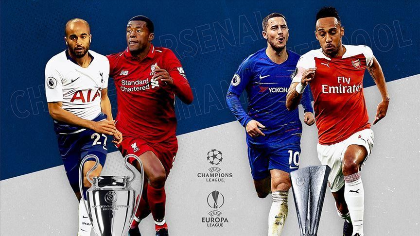 EPL Europa League Champions League
