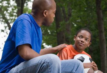 black-father-son