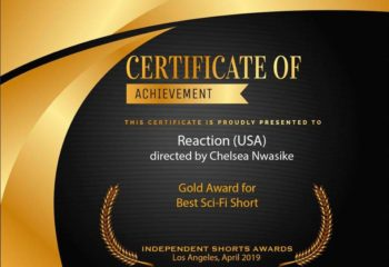 Chelsea Win Gold Award for Best Sci-Fi Short Movie 6