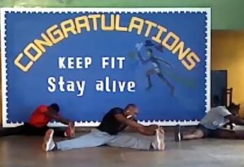Virtual aerobics fiesta for our community