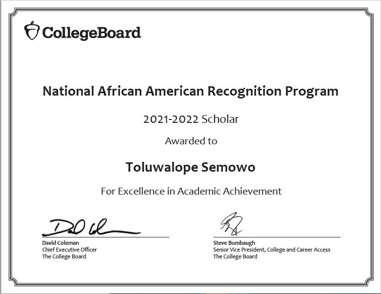 Toluwalope College Board